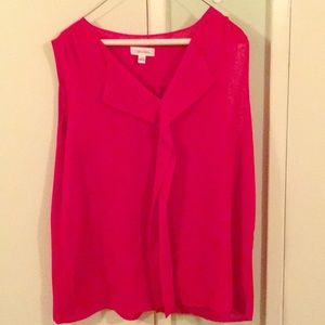 Calvin Klein Red Blouse Size XL